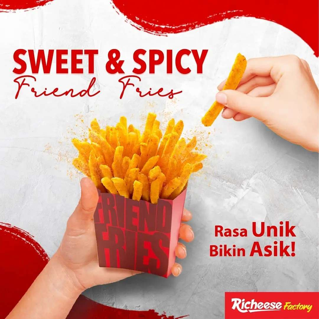 Diskon Richeese Factory Promo Sweet & Spicy Friend Fries Starts From Rp. 16.364