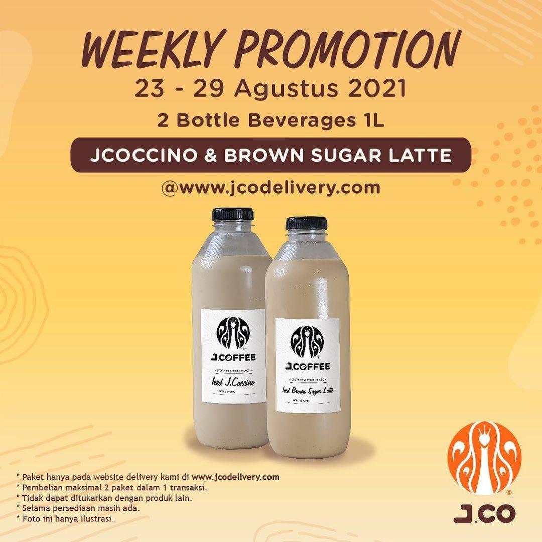 Diskon JCO Weekly Promotion 2 Bottle Beverages 1L Hanya Rp. 110.000