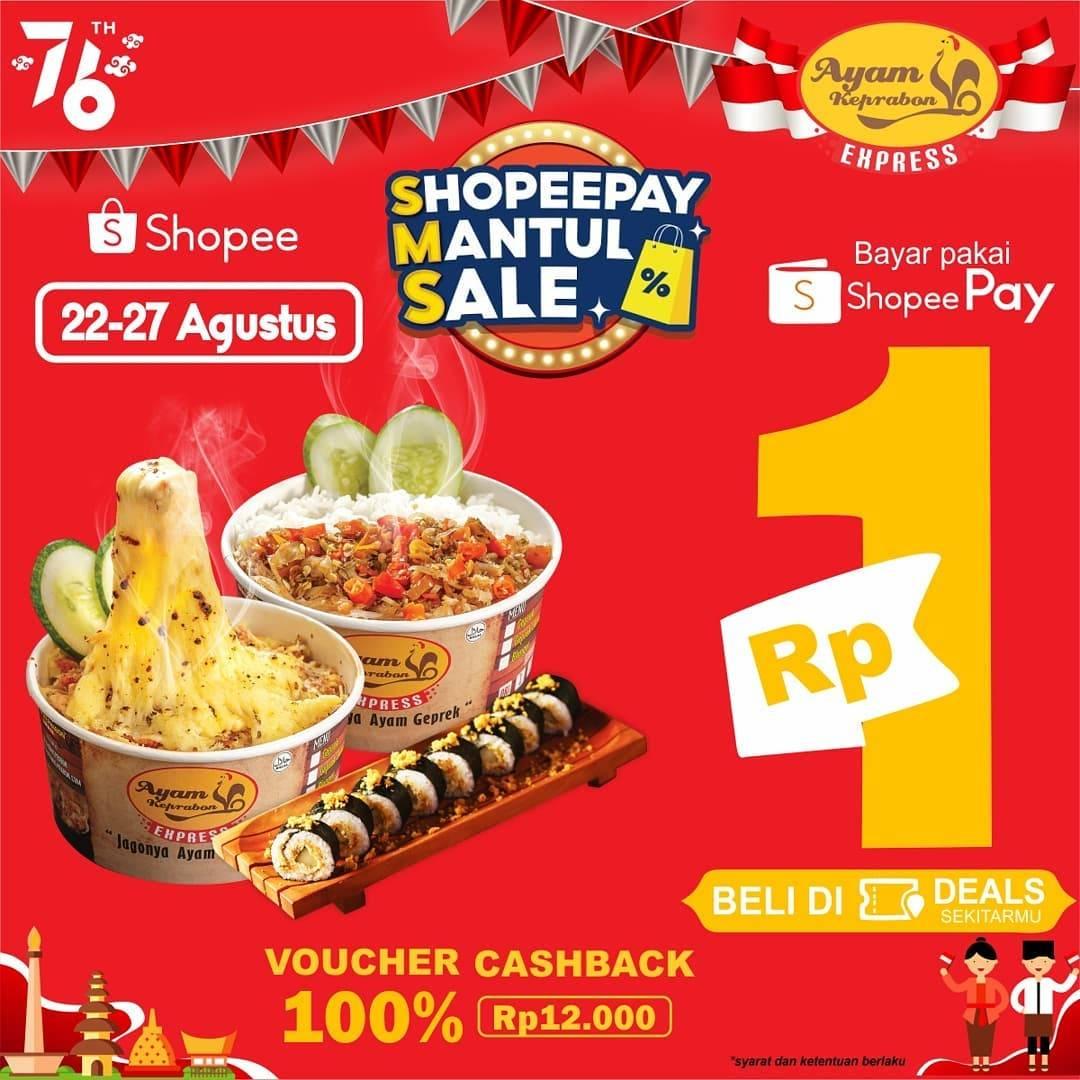 Diskon Ayam Keprabon Voucher Cashback 100% Dengan ShopeePay