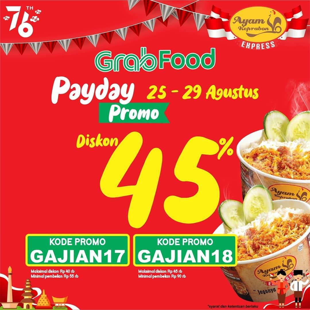 Diskon Ayam Keprabon Promo Payday Diskon 45% Dengan GrabFood