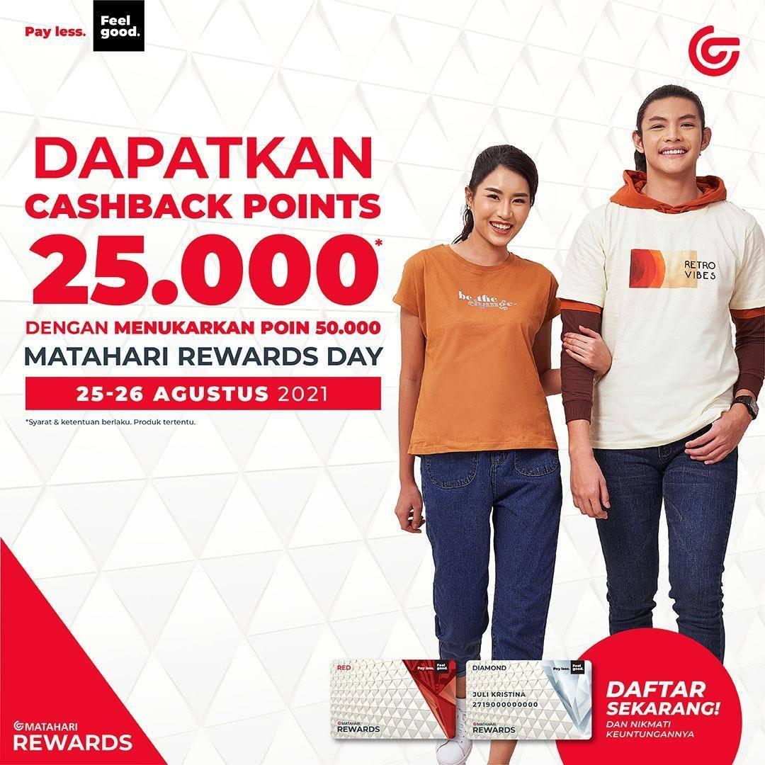 Diskon Matahari Rewards Day Cashback Points Rp. 25.000