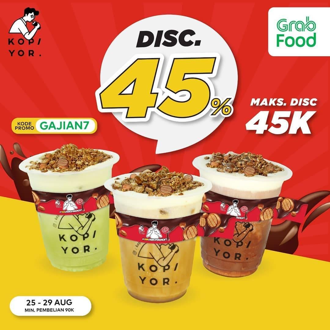 Diskon Kopi Yor Discount 45% Off Dengan Grabfood