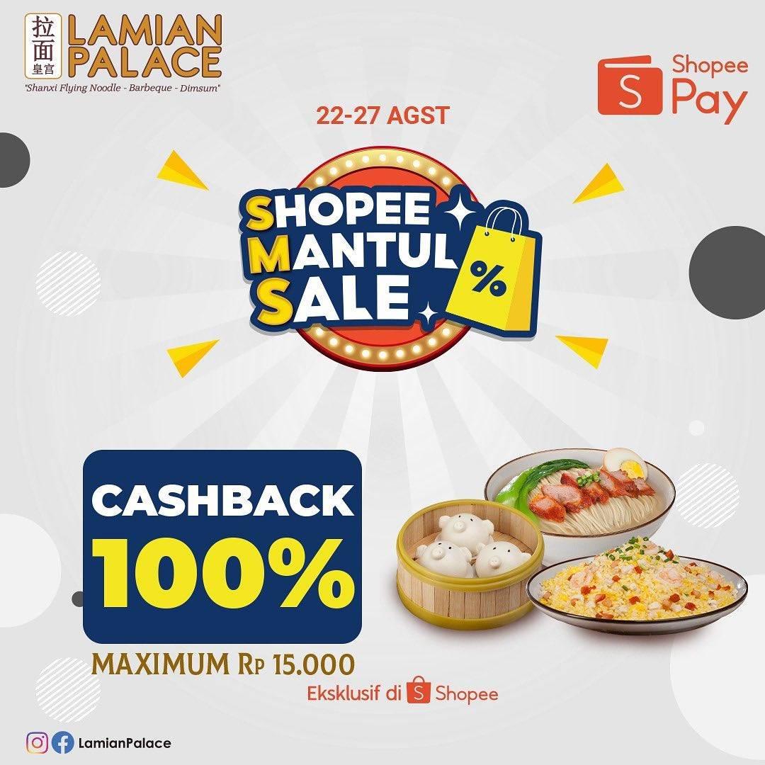 Diskon Lamian Palace Cashback 100% Dengan ShopeePay