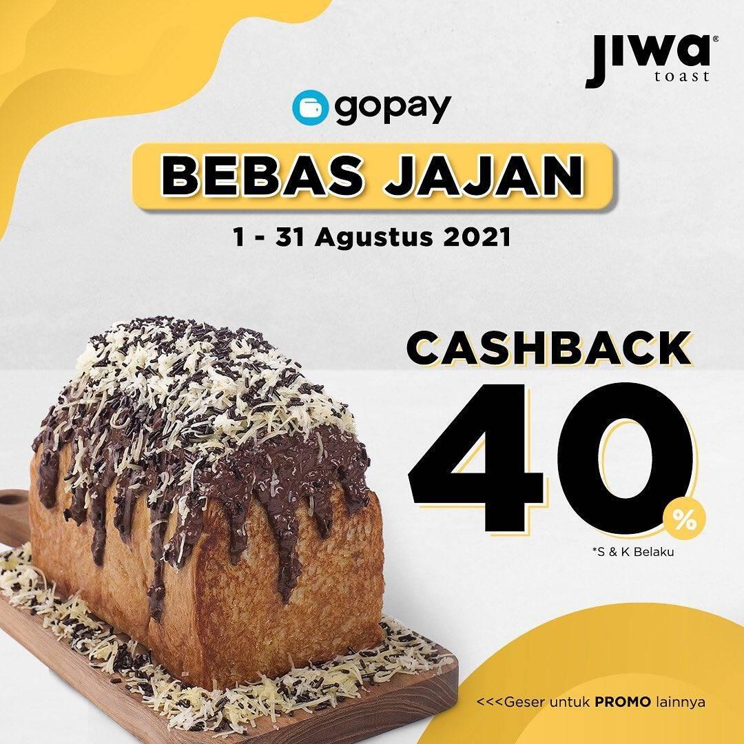 Diskon Jiwa Toast Promo Aplikasi Gopay, GrabFood, ShopeeFood
