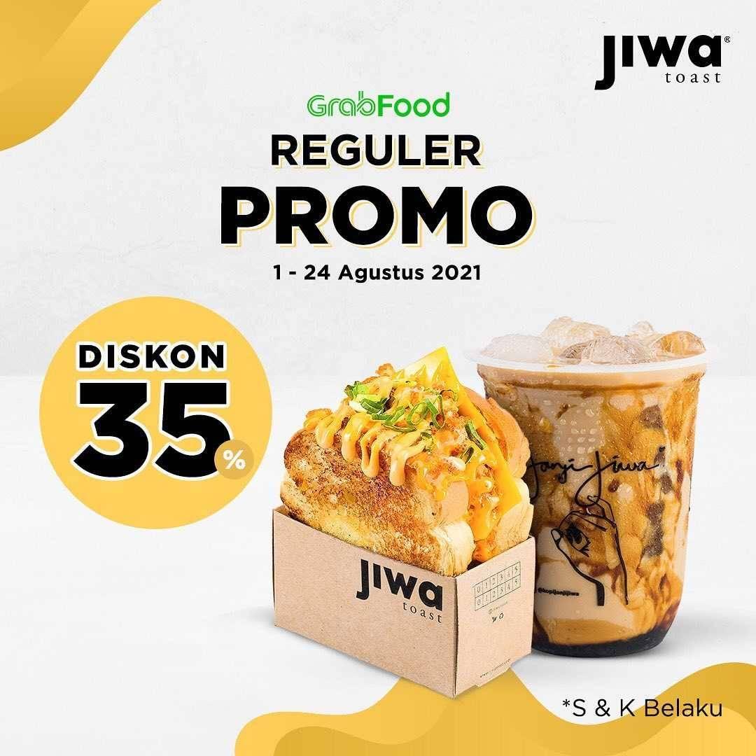 Promo diskon Jiwa Toast Promo Aplikasi Gopay, GrabFood, ShopeeFood