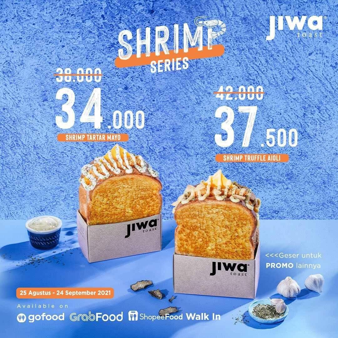 Promo diskon Jiwa Toast Promo Shrimp Series