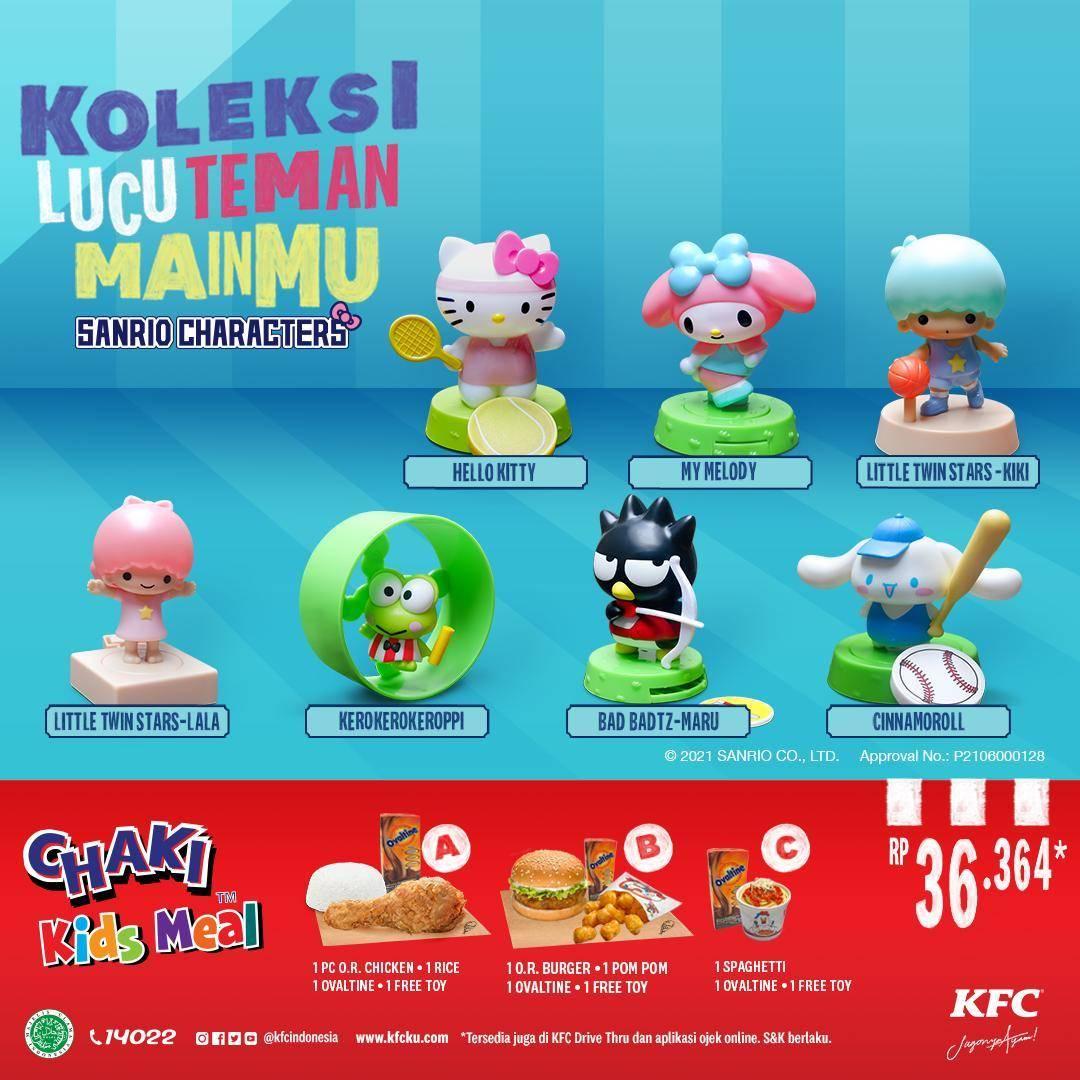 Diskon KFC Promo Chaki Kids Meal Hanya Rp. 36 Ribuan