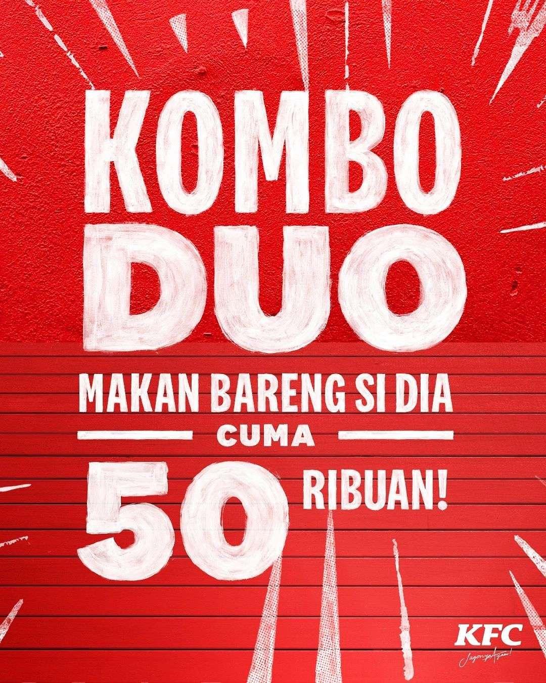 Diskon KFC Promo Kombo Duo Cuma Rp. 50.000