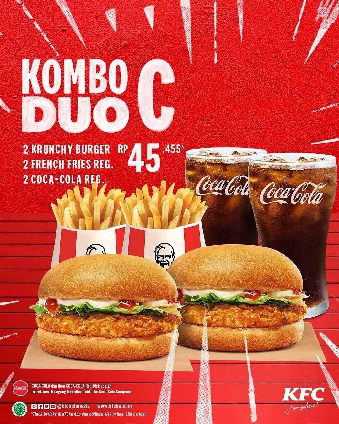 Promo diskon KFC Promo Kombo Duo Cuma Rp. 50.000