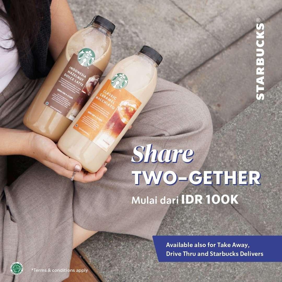 Diskon Starbucks Promo Share Two-gether Hanya Rp. 100.000