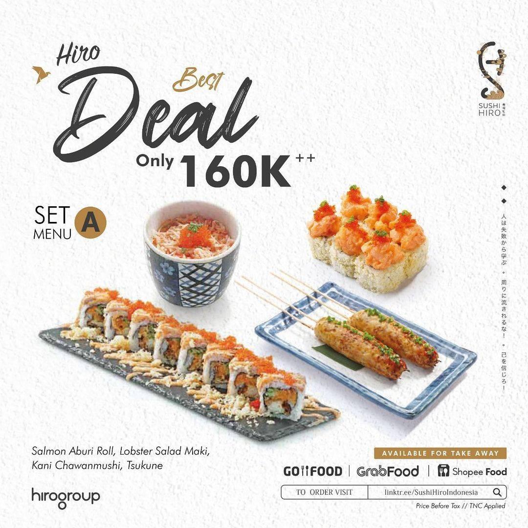 Diskon Sushi Hiro Promo Hiro Best Deal Hanya Rp. 160.000