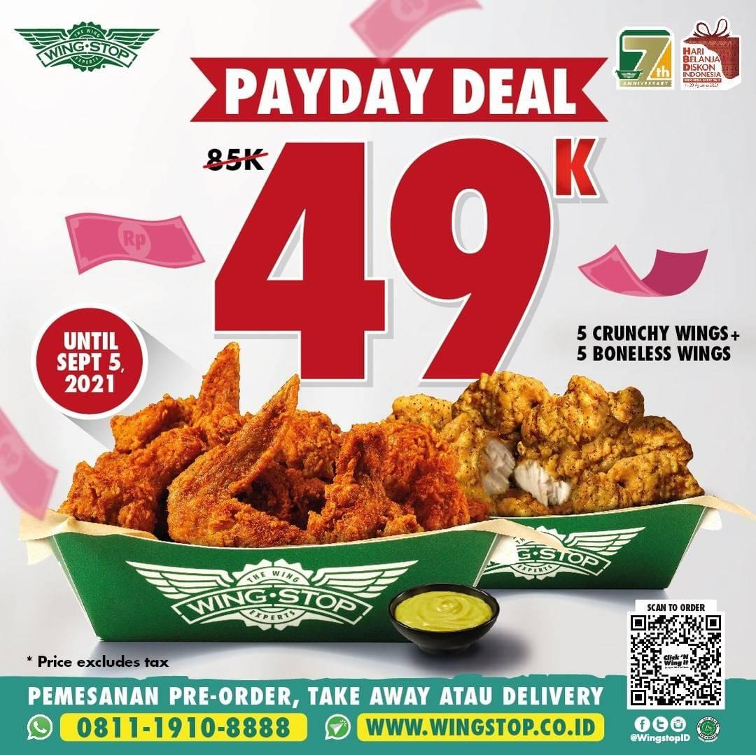 Diskon Wingstop Payday Deal 10 Wings Hanya Rp. 49.000