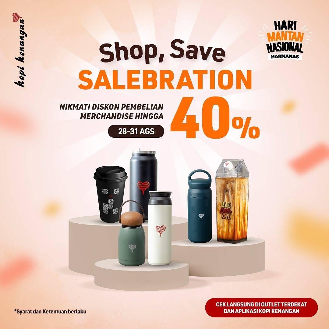 Diskon Kopi Kenangan Shop, Save, Salebration Diskon Hingga 40% Untuk Merchandise