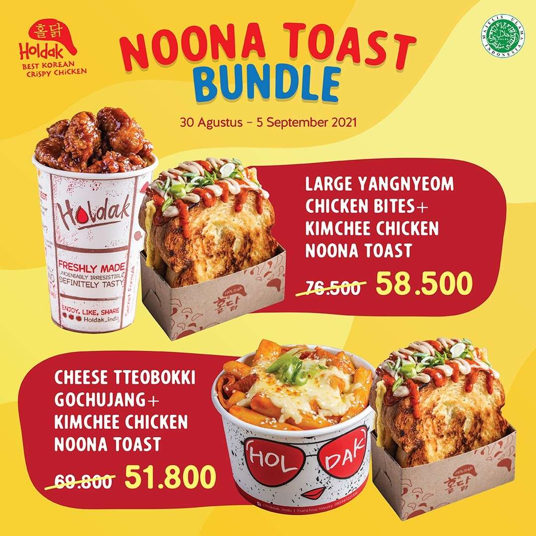 Diskon Holdak Promo Noona Toast Bundle Hanya Rp. 50Ribuan