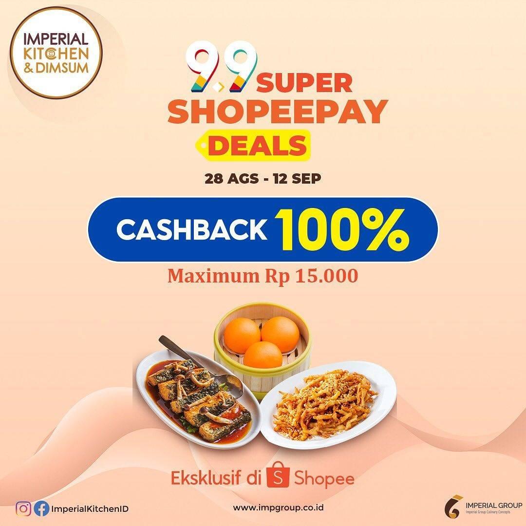 Diskon Imperial Kitchen Cashback 100% Dengan Shopeepay