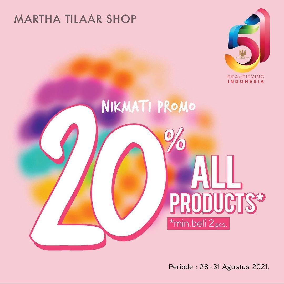 Diskon Martha Tilaar Discount 20% Off On All Products
