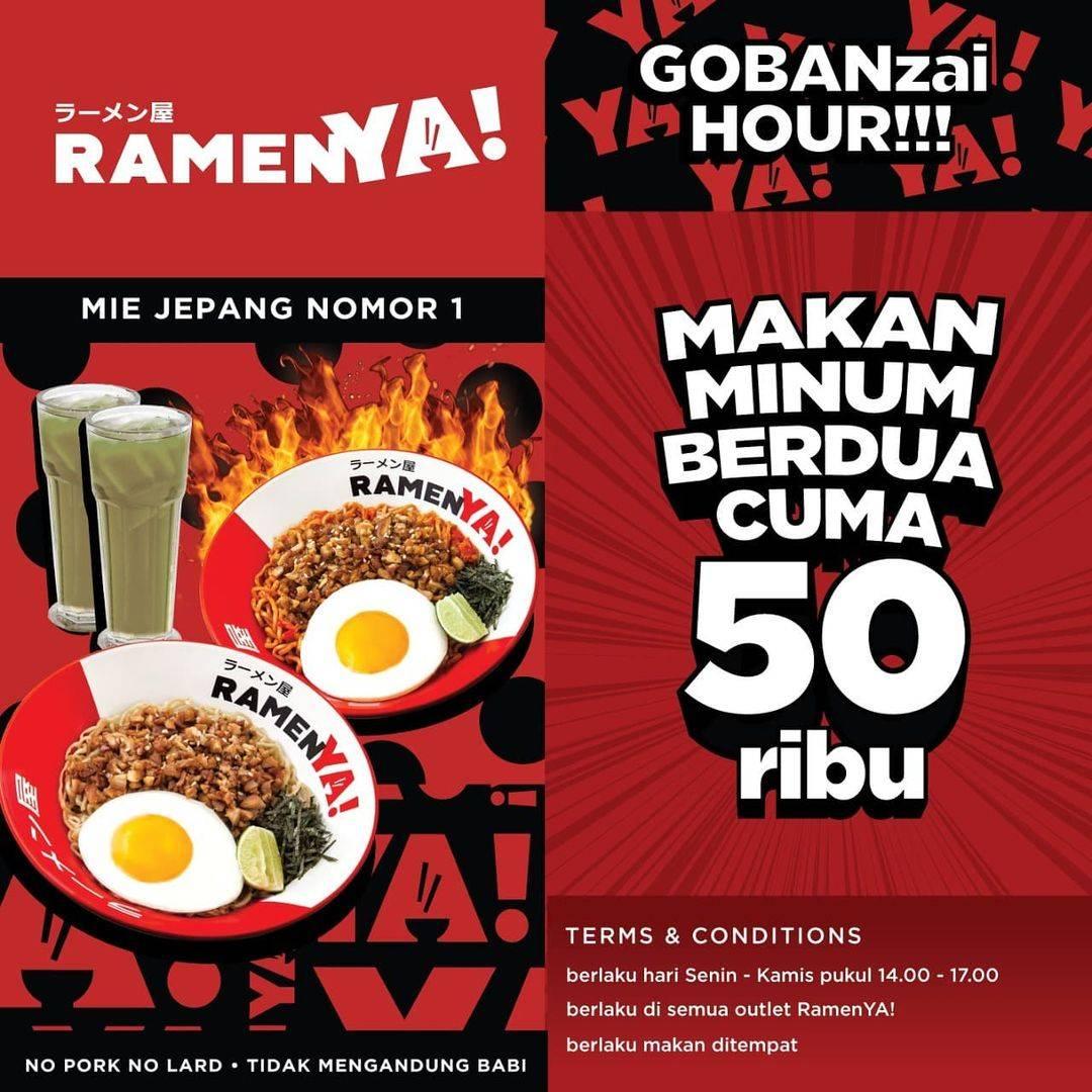 Diskon Ramen Ya ! Promo Makan Minum Berdua Hanya Rp. 50.000