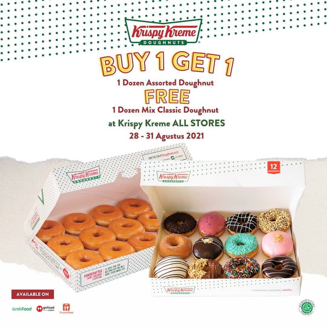 Diskon Krispy Kreme Buy 1 Get 1 Free Doughnut