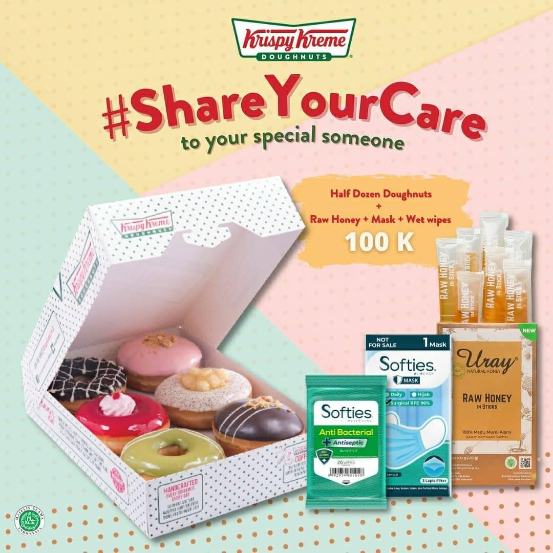 Diskon Krispy Kreme Promo Share Your Care Hanya Rp. 120.000