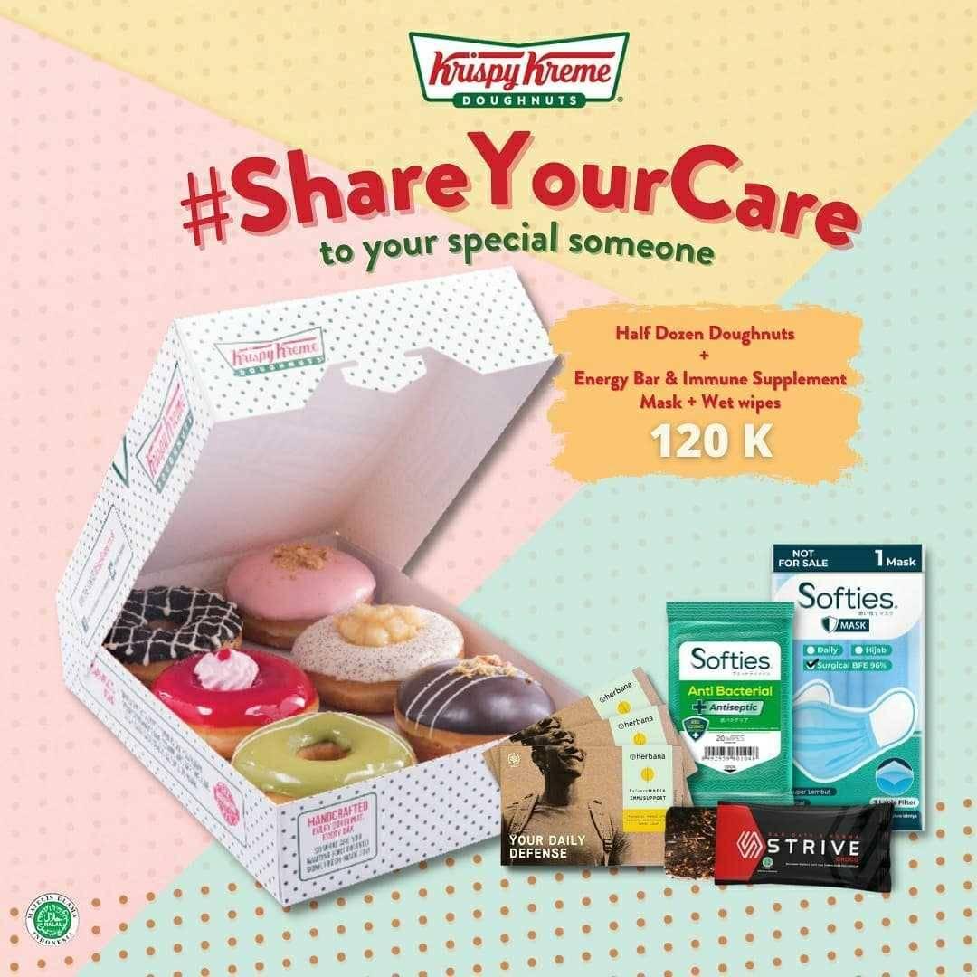 Promo diskon Krispy Kreme Promo Share Your Care Hanya Rp. 120.000