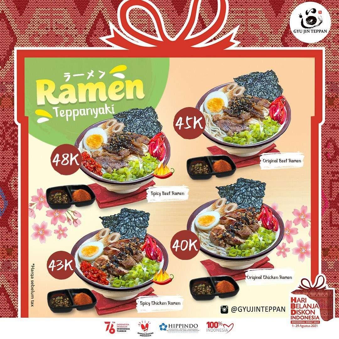 Diskon Gyu Jin Teppan Promo Ramen Teppanyaki Mulai Dari Rp. 40.000
