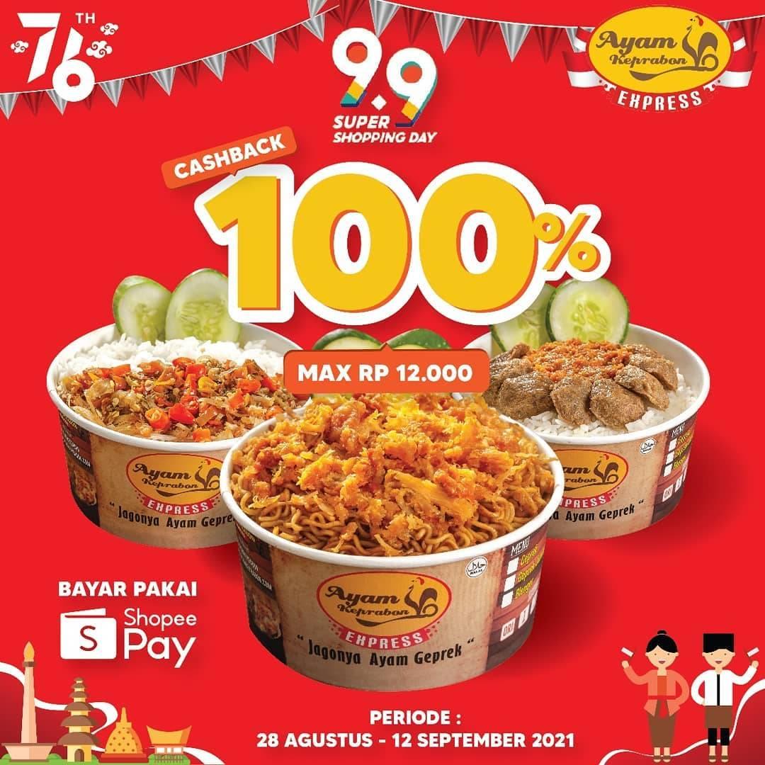 Diskon Ayam Keprabon Cashback 100% Dengan ShopeePay