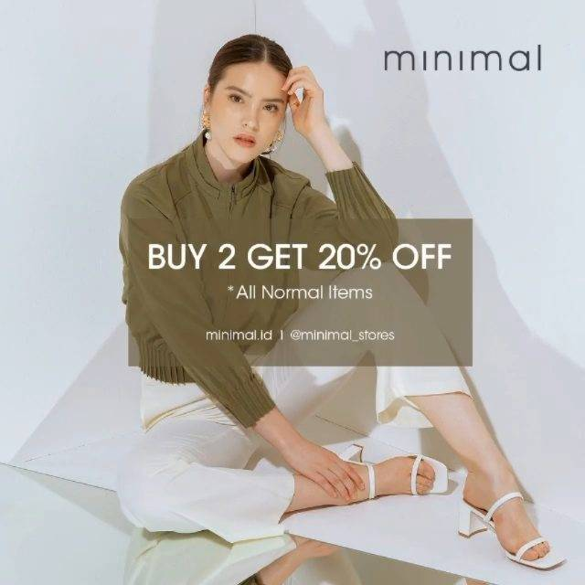 Diskon Minimal Buy 2 Get Discount 20% Off