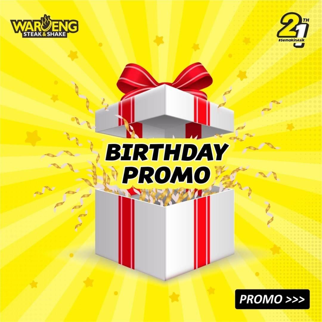 Diskon Waroeng Steak Birthday Promo Beli 2 Gratis 1 Menu Spesial