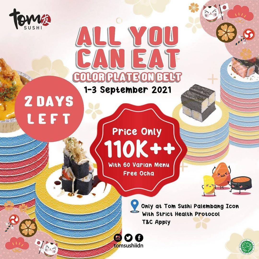 Diskon Tom Sushi Promo All You Can Eat Hanya Rp. 110.000++