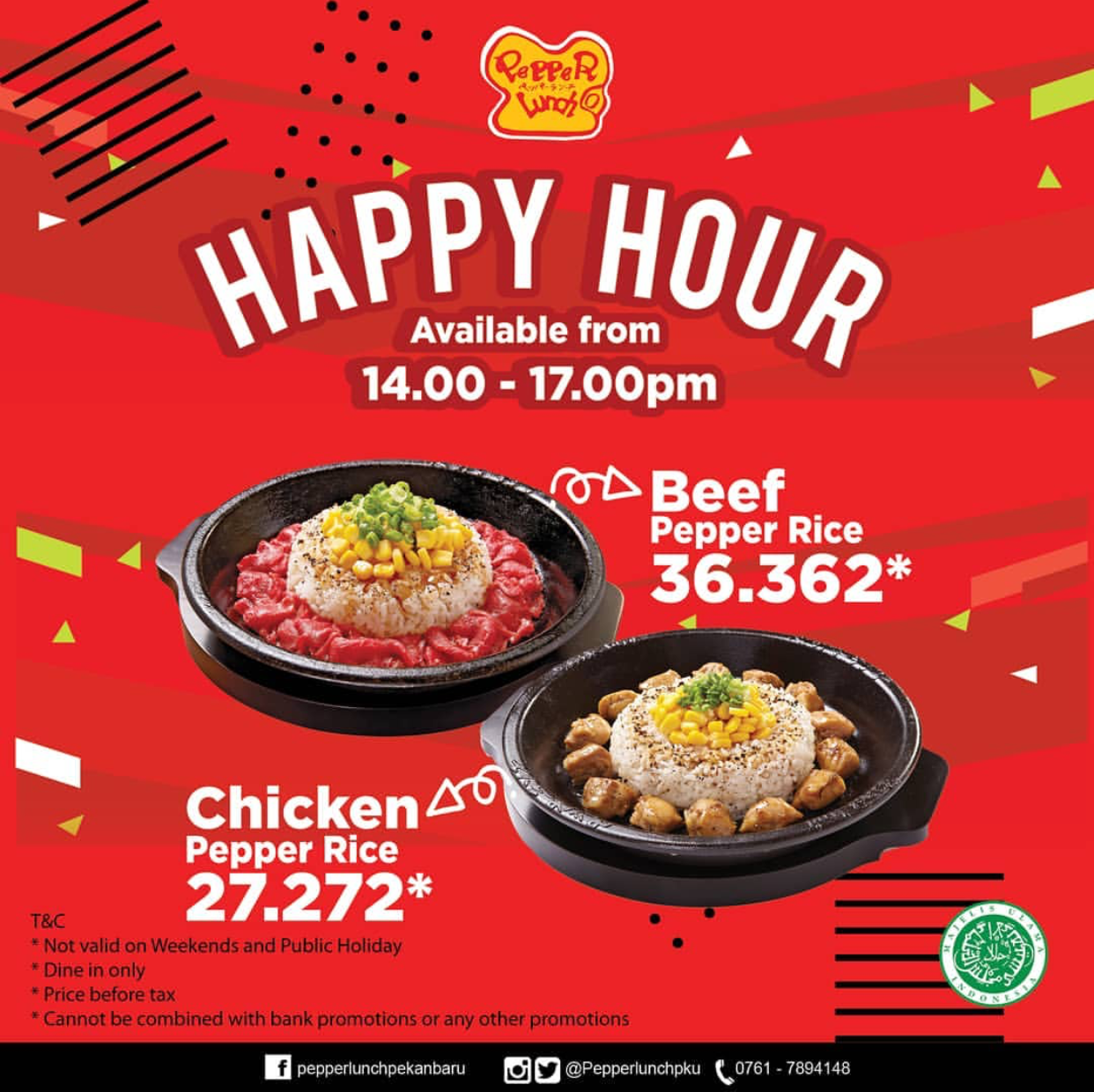 PEPPER LUNCH Promo HAPPY HOUR