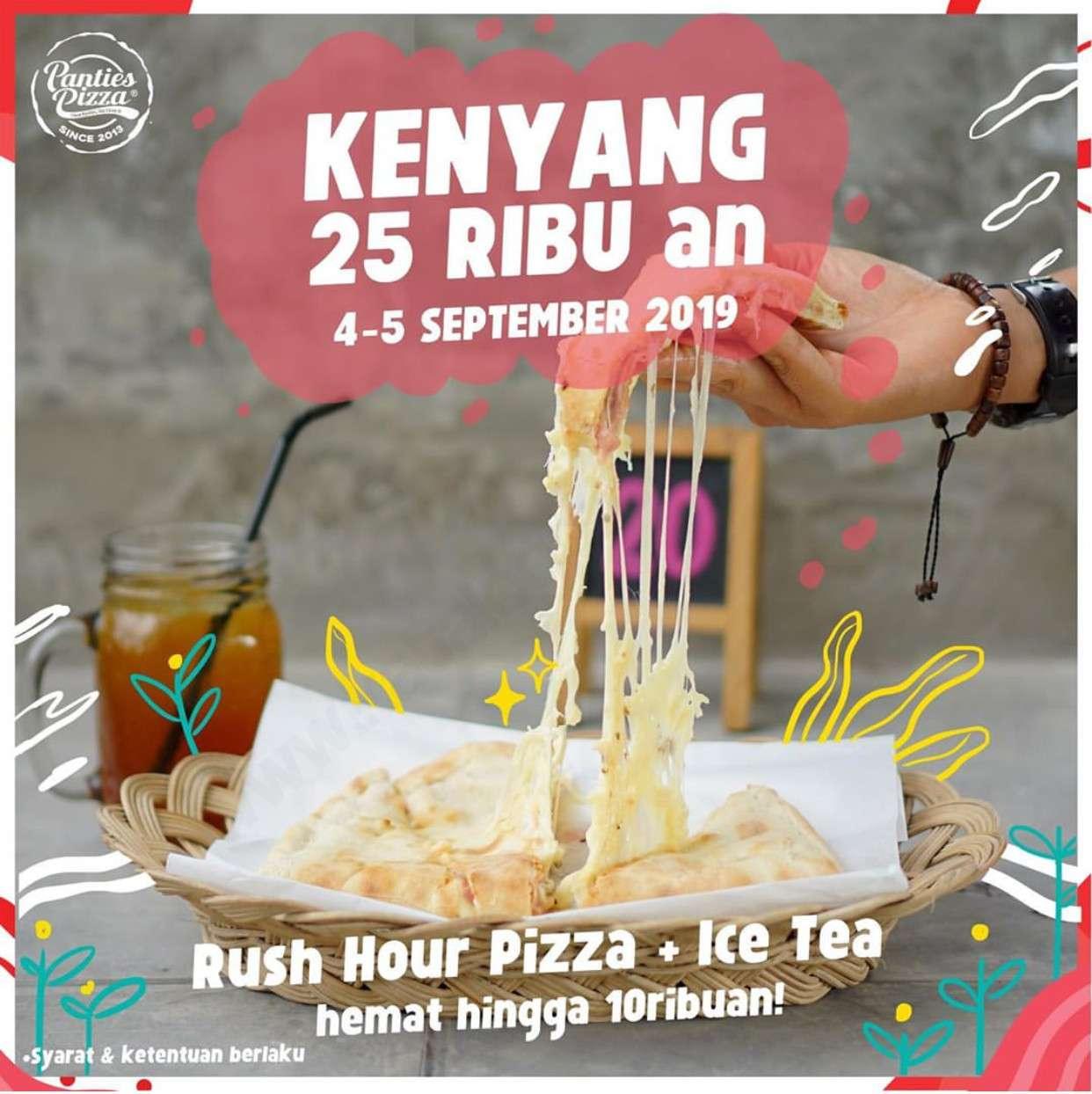Panties Pizza Promo Paket Rush Hour Pizza + Ice Tea hanya Rp 25ribuan aja