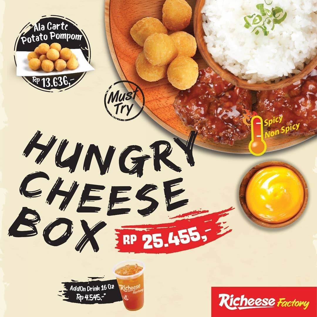 Diskon Richeese Factory NEW Hungry Cheese Box Hanya Rp 25.455,-