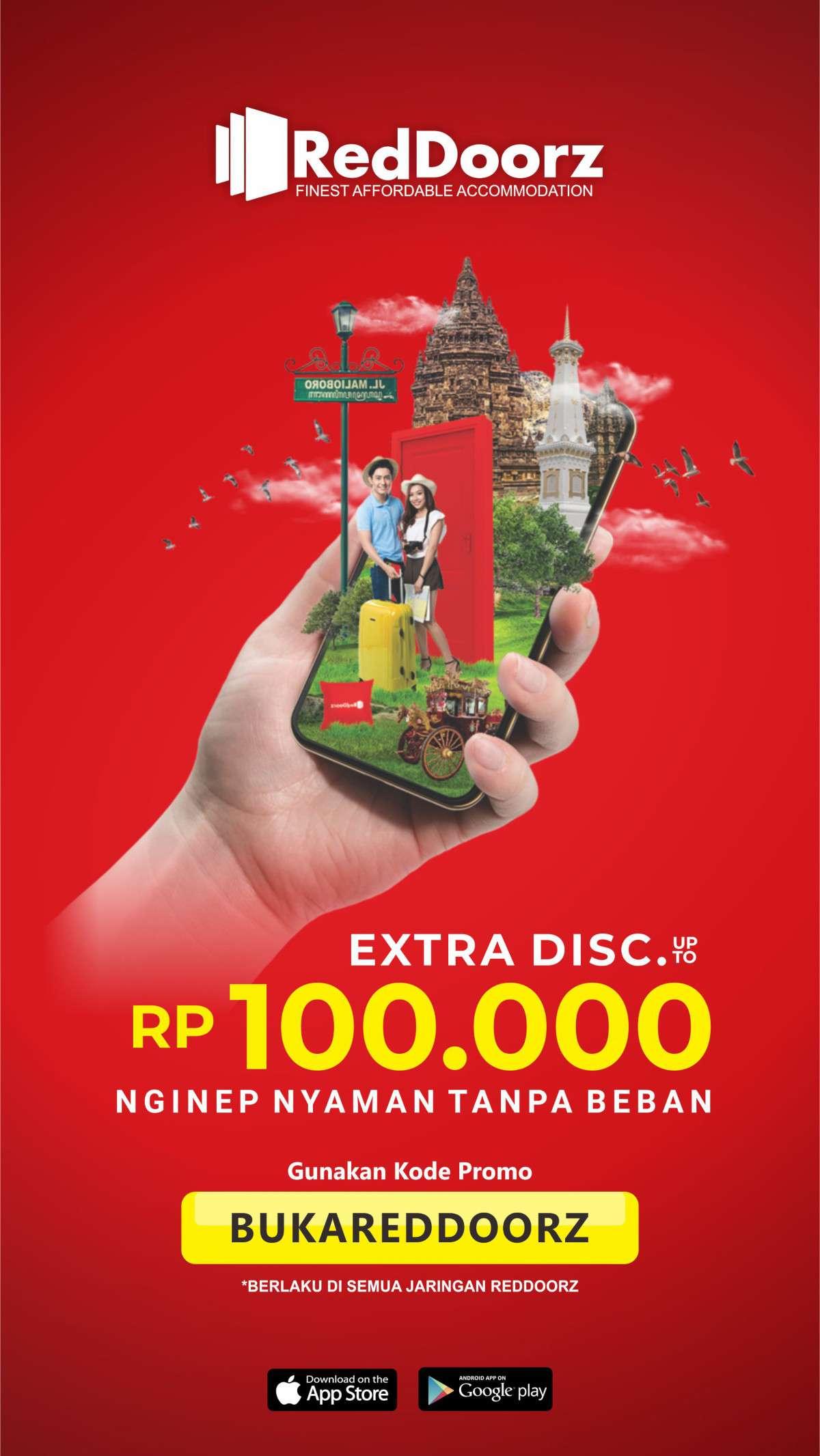 Diskon Reddoorz Promo Extra Diskon sampai Rp. 100.000 untuk Kamar Hotel