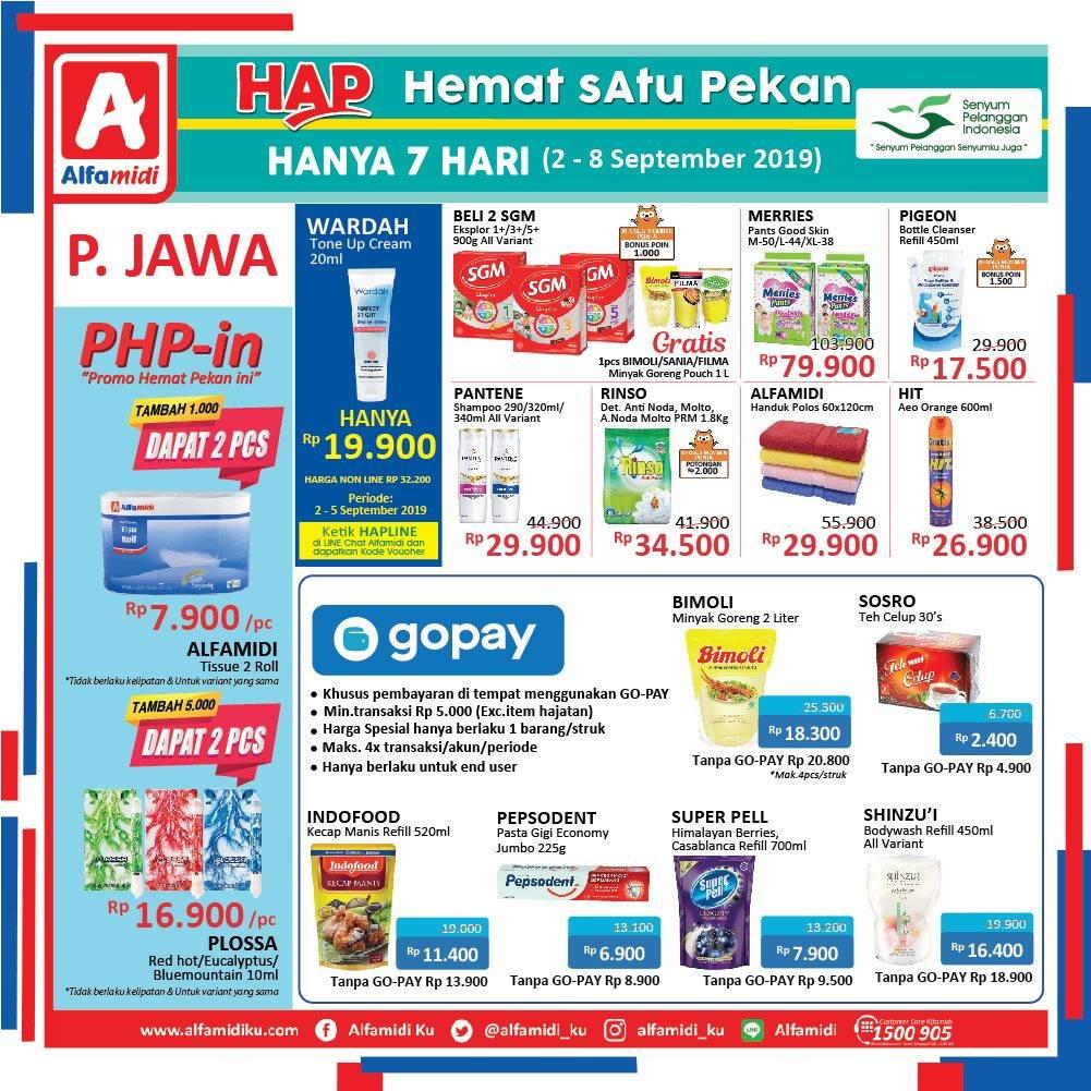 Promo diskon Katalog ALFAMIDI Hemat Satu Pekan periode 02-08 September 2019