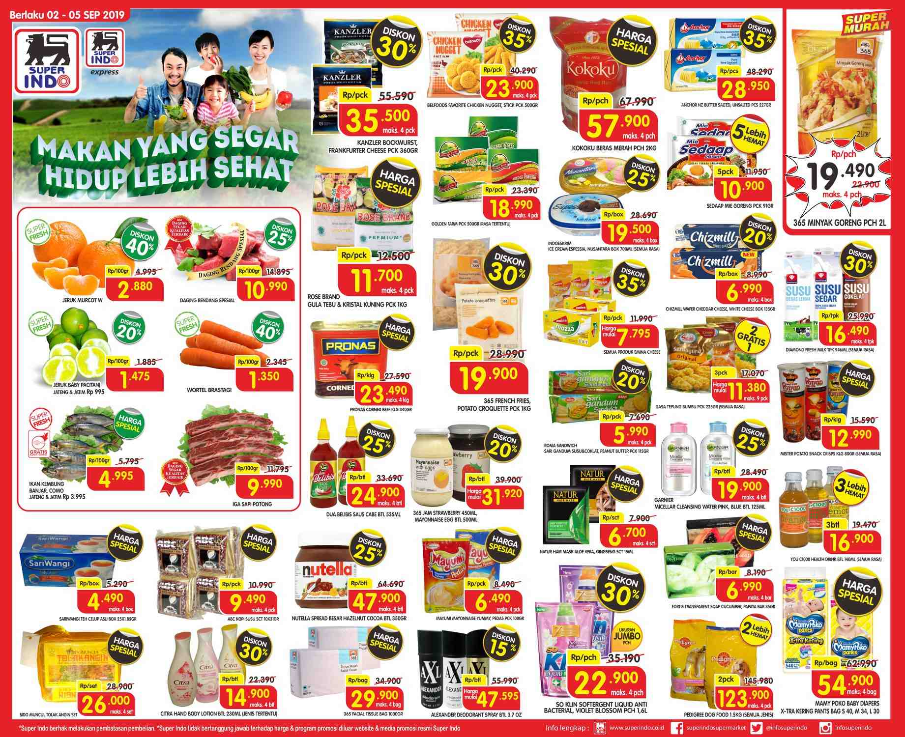 Diskon Katalog SuperIndo periode 02-05 September 2019