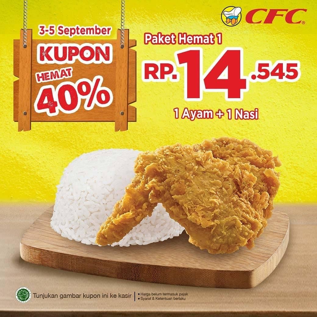 CFC Promo Kupon Hemat 40% Harga Mulai Rp 14. 545