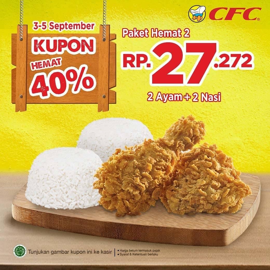 Promo diskon CFC Promo Kupon Hemat 40% Harga Mulai Rp 14. 545