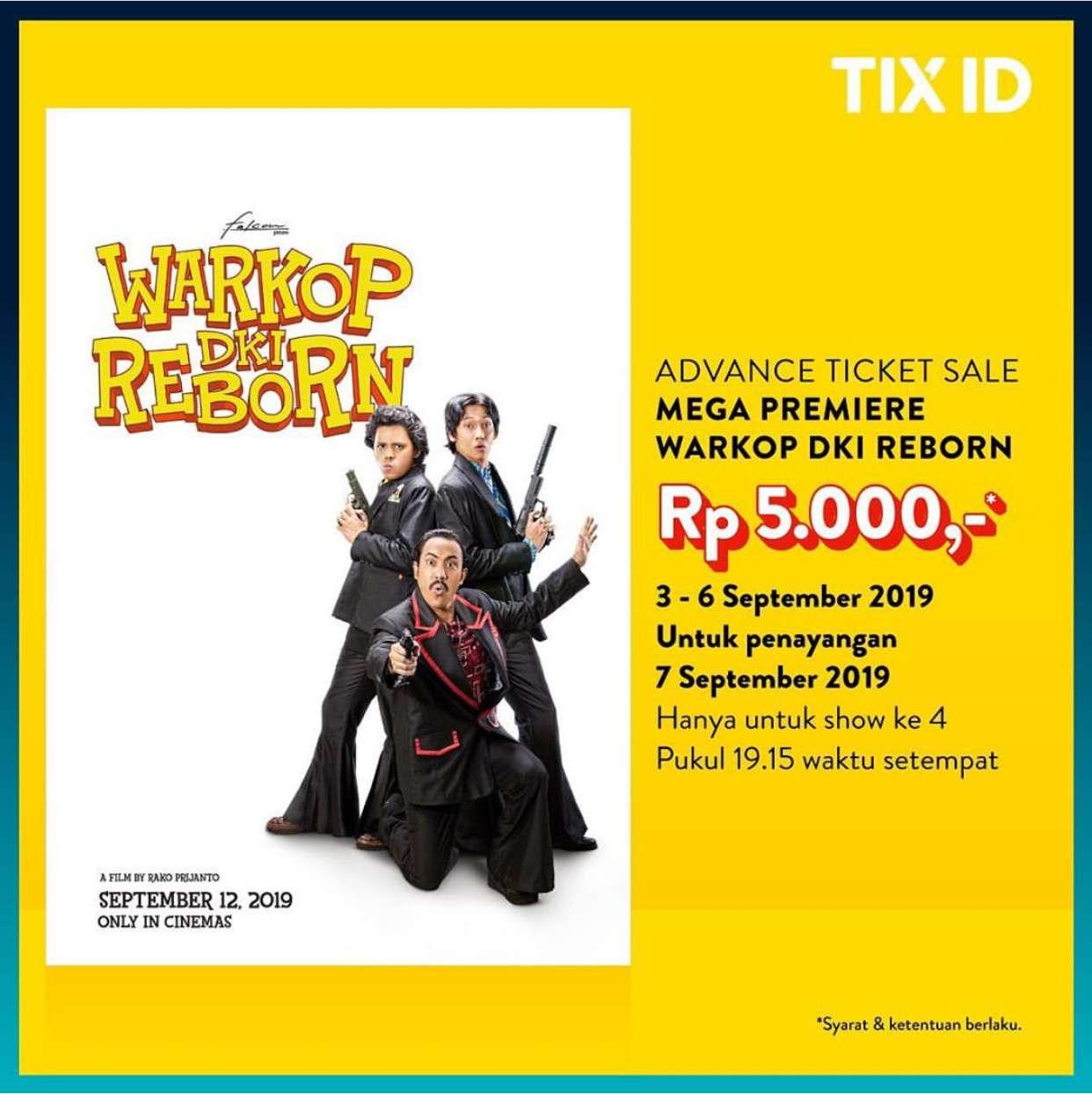 Diskon TIX ID Special Promo WARKOP DKI Reborn – Hanya Rp5.000 per tiket