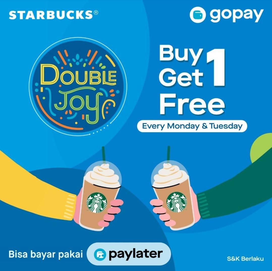 Starbucks Promo BELI 1 GRATIS 1 dengan GOPAY