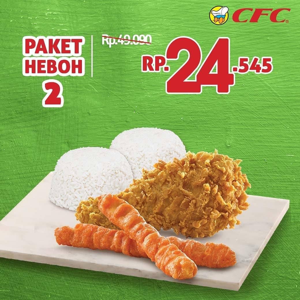 Promo diskon CFC Promo Paket Heboh Grabfood Diskon hingga 50%