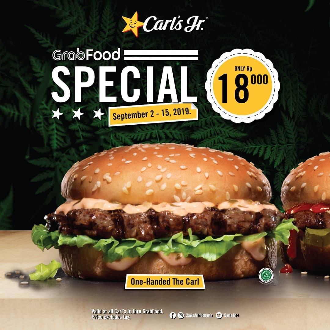 Carls Jr Grabfood Spesial  Menu Pilihan mulai Rp. 18.000