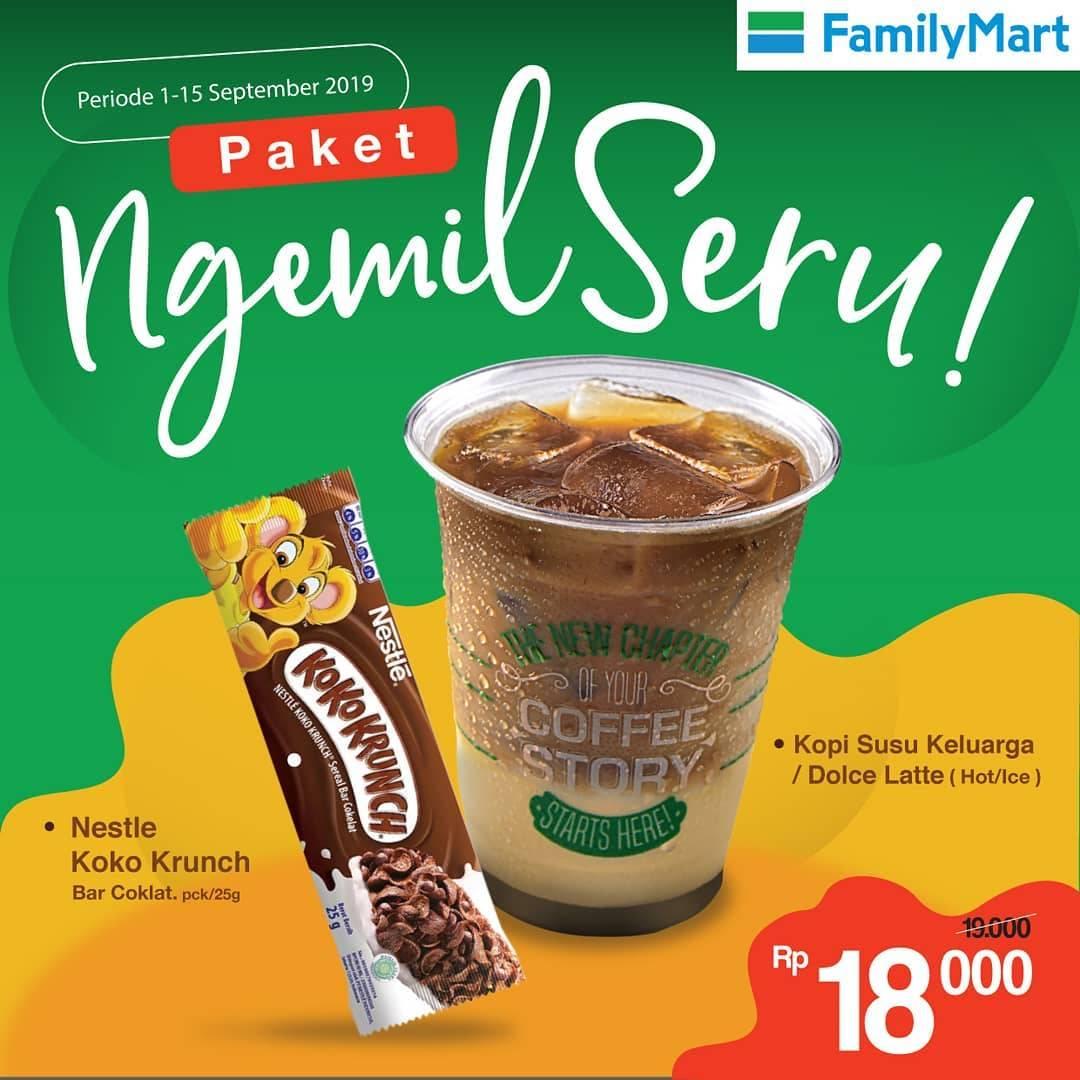 Diskon Familymart Promo Paket Ngemil Seru Rp. 18.000