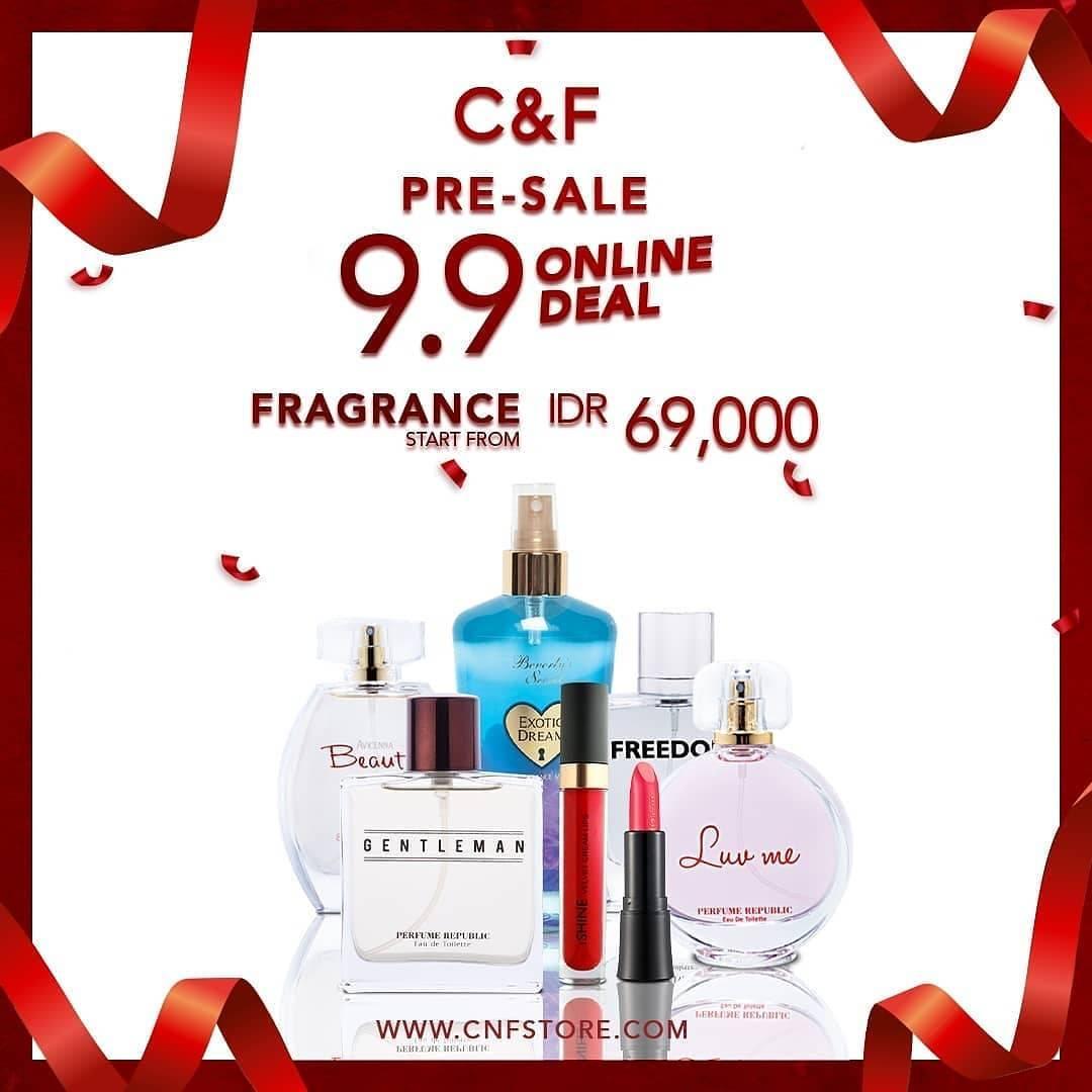 Diskon C&F Perfumery Pre-Sale 9.9 Online Deal mulai Rp. 69.000