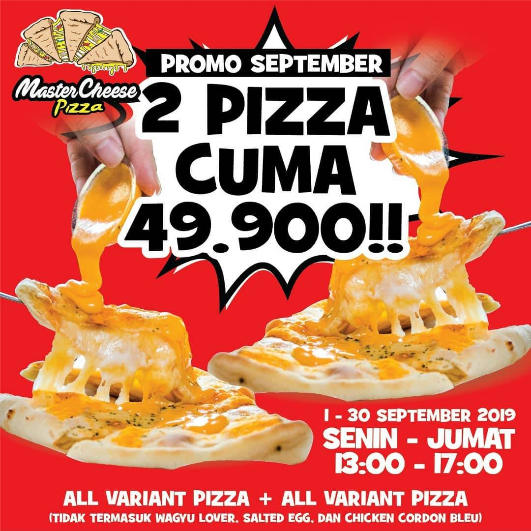 Mastercheese Pizza Promo Hemat September 2 Pizza Rp. 49.900