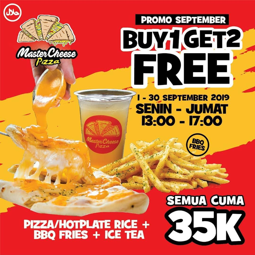 Promo diskon Mastercheese Pizza Promo Hemat September 2 Pizza Rp. 49.900