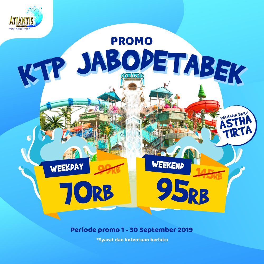 Atlantis Water Adventure Promo Spesial KTP Jabodetabek