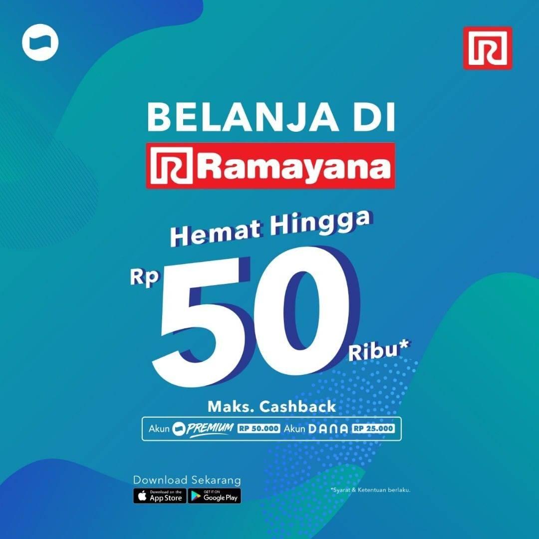 Diskon Ramayana Cashback hingga Rp. 50.000 dengan DANA