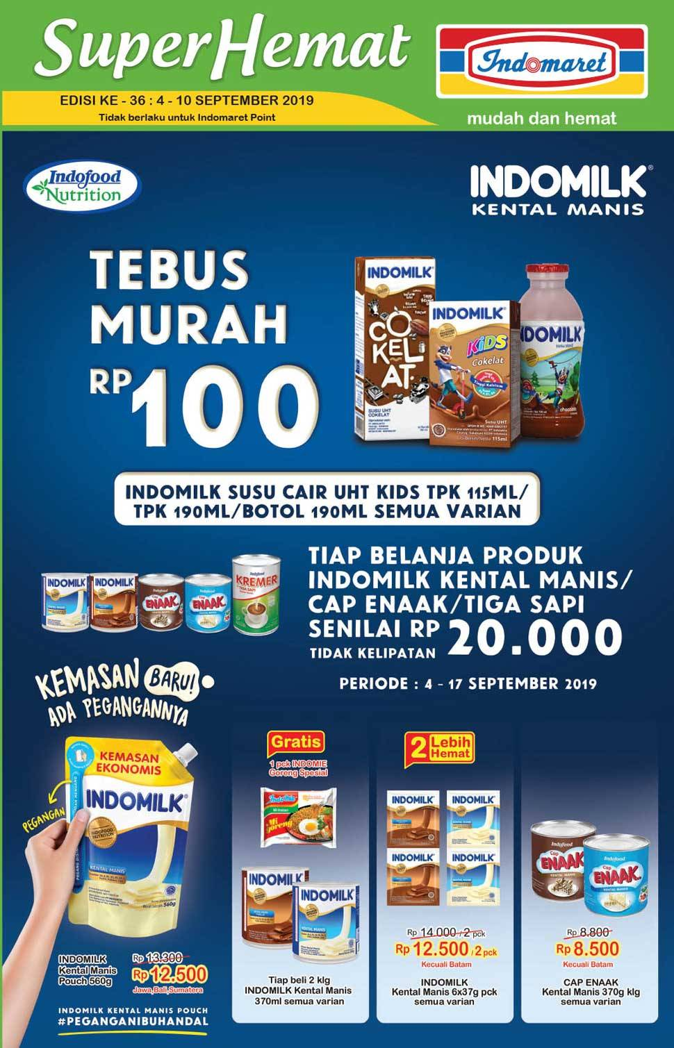 Katalog Promo Indomaret Super Hemat periode 04-10 September 2019