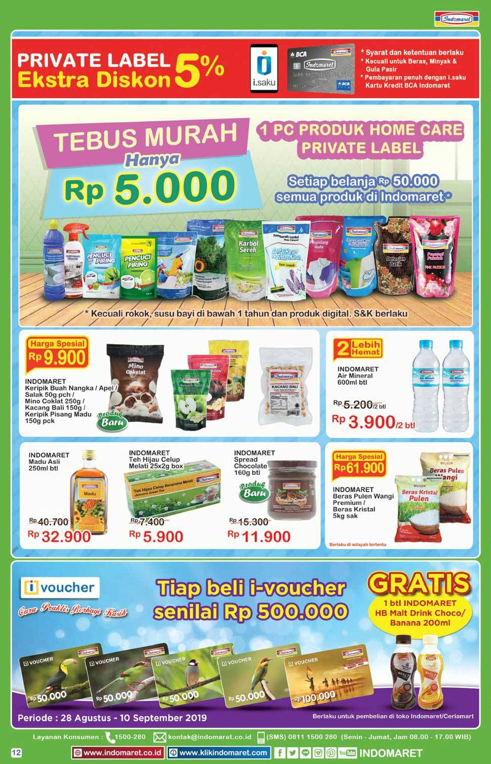 Promo diskon Katalog Promo Indomaret Super Hemat periode 04-10 September 2019