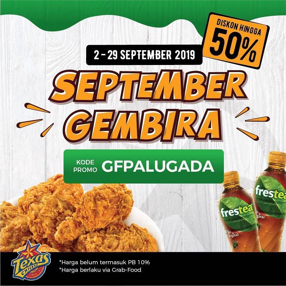 Texas Chicken Promo September Gembira via Grab mulai Rp. 18.000